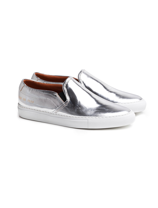 Woman by Common Projects Slip On Foil Silver