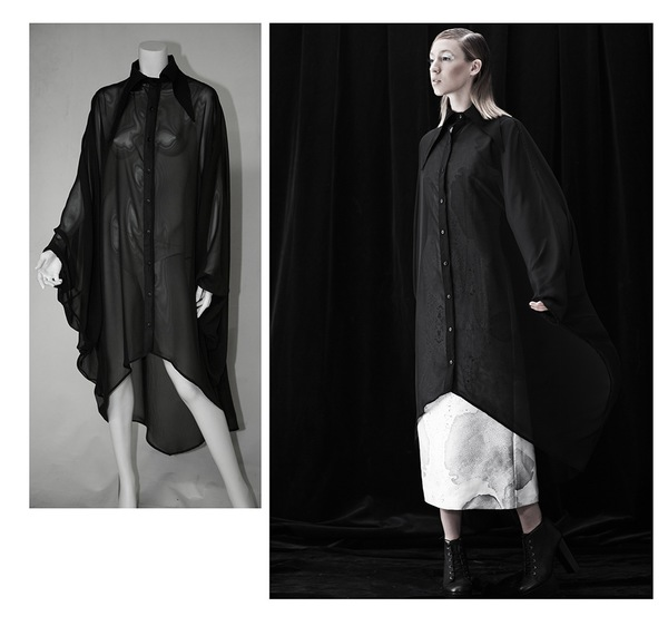 Brit Wacher Dark Night Cape Shirt