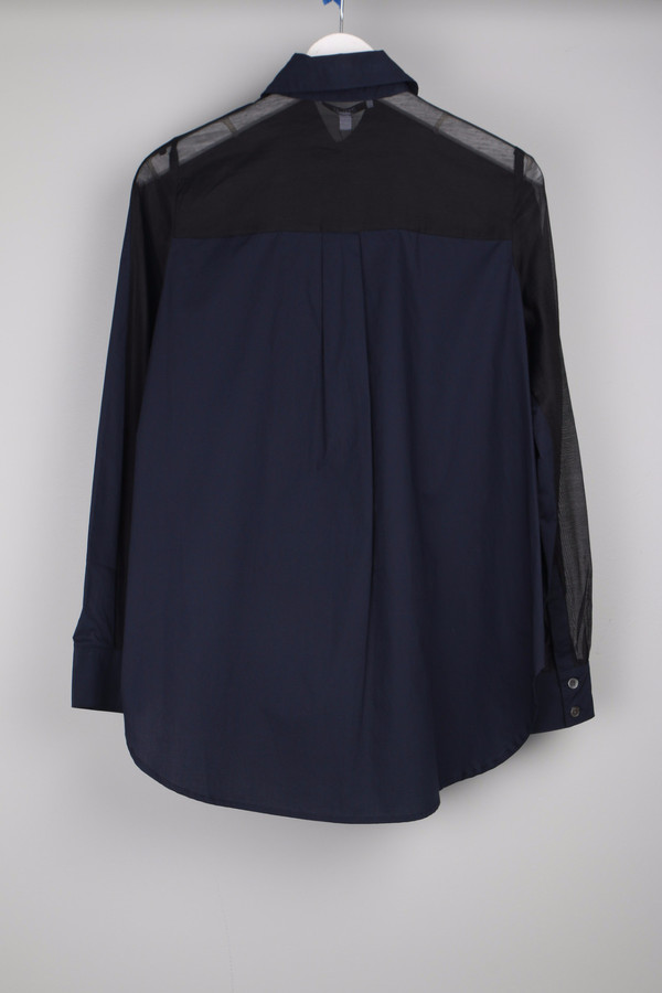 10 Crosby by Derek Lam Shirt W/ Back Tail Navy