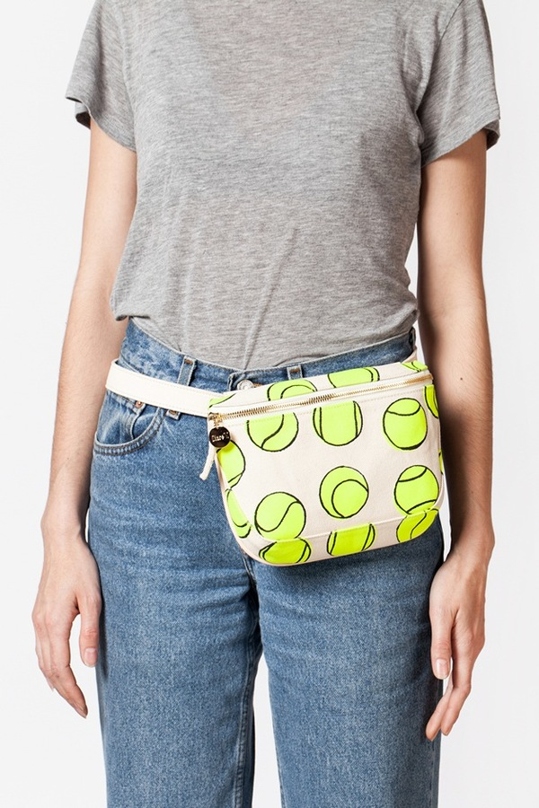 Clare V. Fannypack-canvas tennis