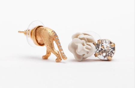 Mirit Weinstock Treasure Earrings Set Tiger Butt
