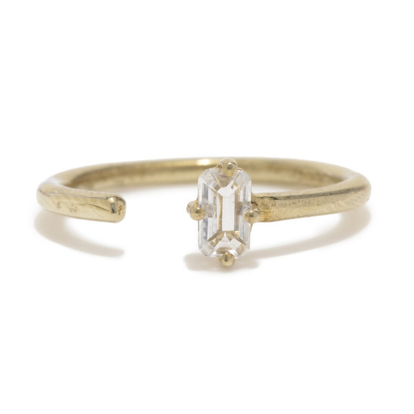 Tarin Thomas Jordan Yellow Brass and Topaz Ring