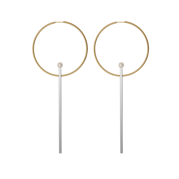 Diaboli Kill Laela Pearl Hoop Earrings