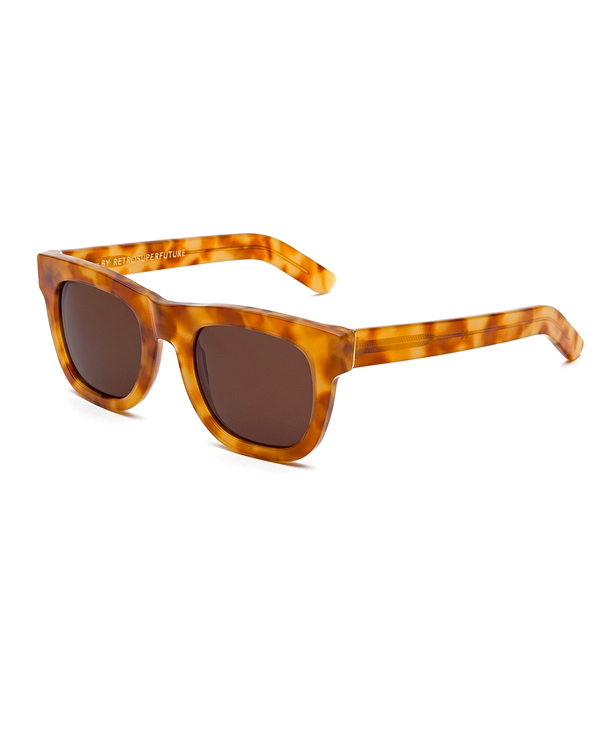 RetroSuperFuture Ciccio Sunglasses in Blonde Havana Tortoise