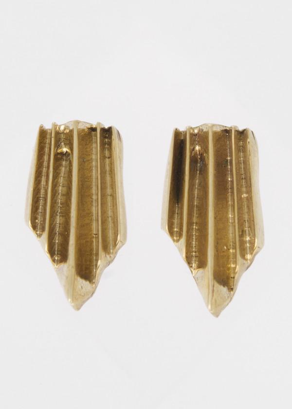 short wake earrings - brass