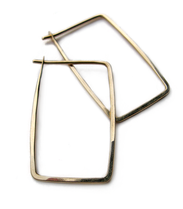 Minoux Small Rectangle hoops