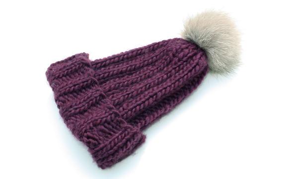 Headmistress, Knit Toque, Plum (sold out)