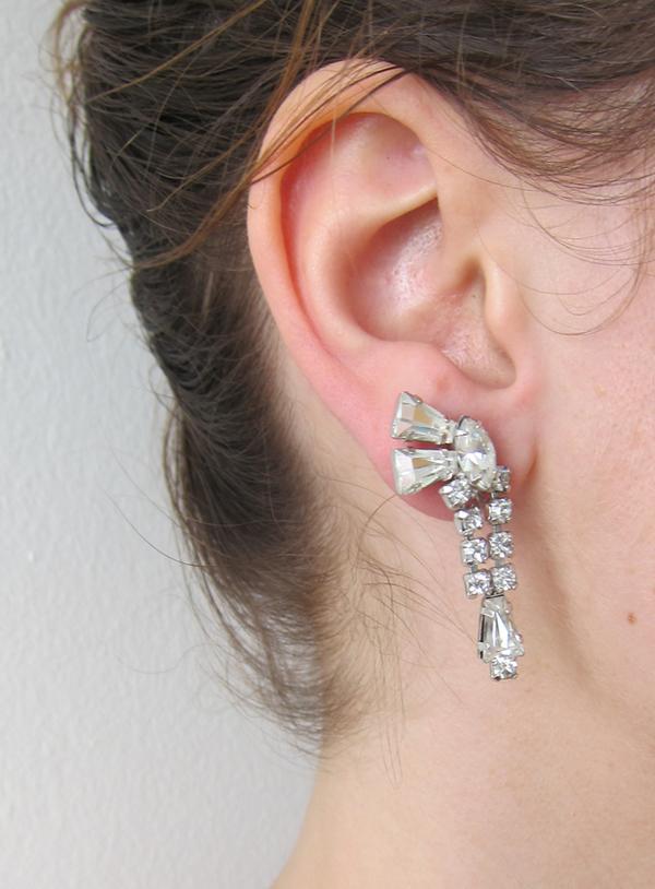 Vintage Collection Rhinestone drop earrings