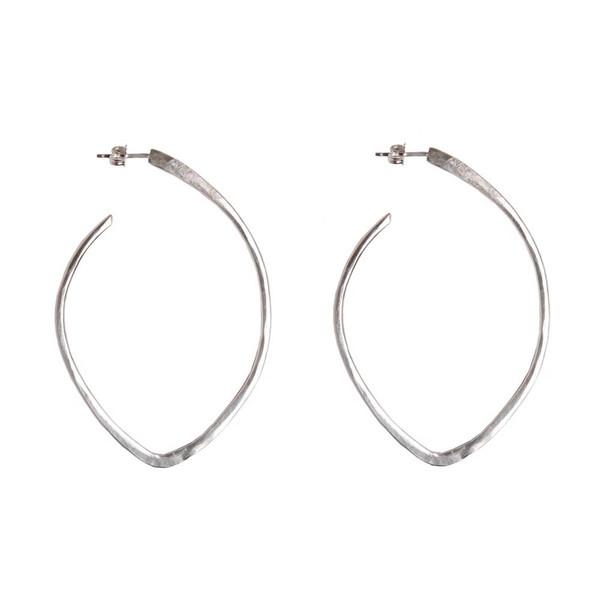 Tiffany Kunz Silver Bold Arc Earrings