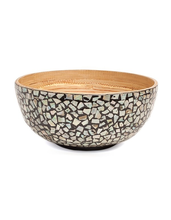 Artisen Mother of Pearl Bamboo Bowl