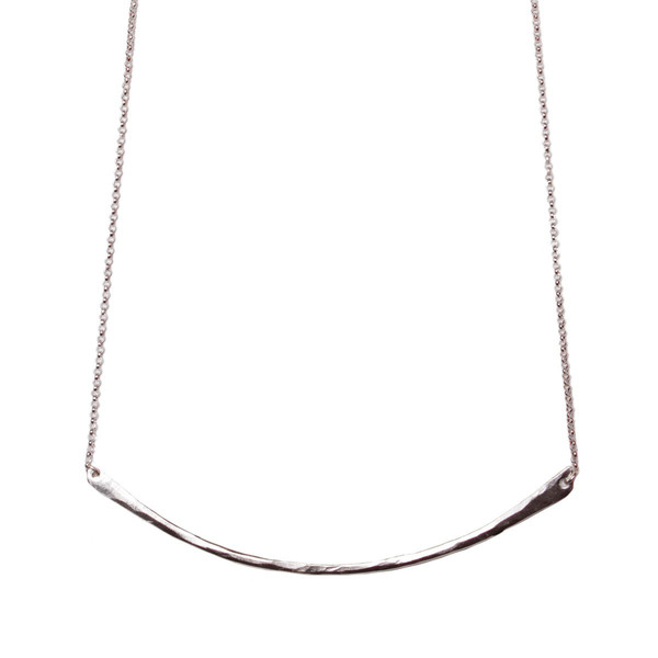 Tiffany Kunz Silver Bar Necklace