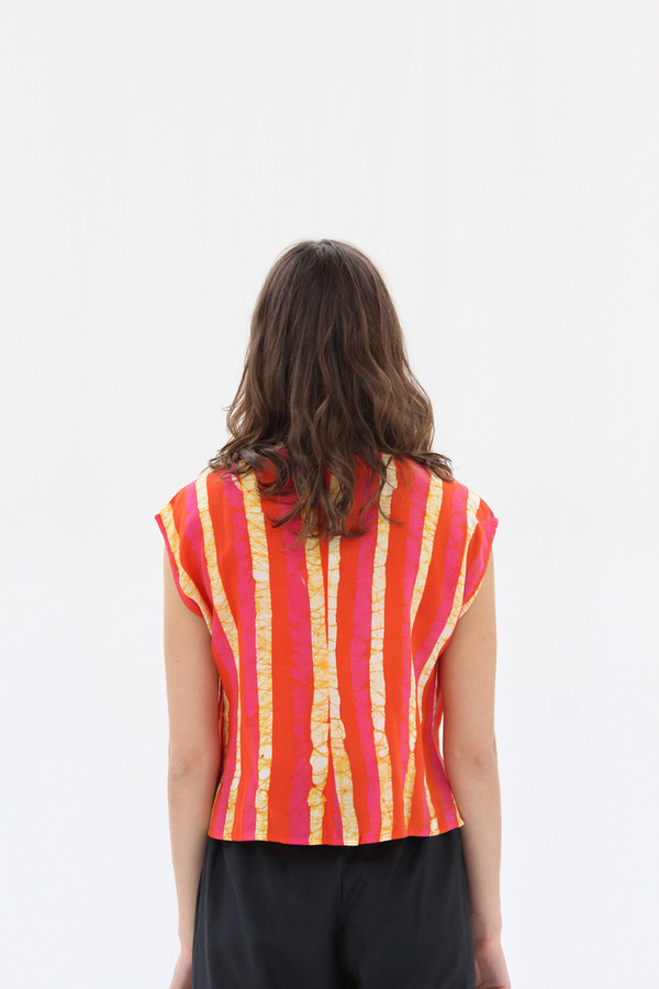 Osei-Duro Maena Shell Top Candy Stripe
