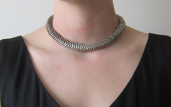 Vintage Silver Spine Necklace