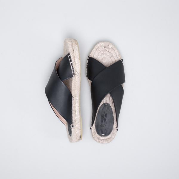 Soludos Criss Cross Platform Sandal