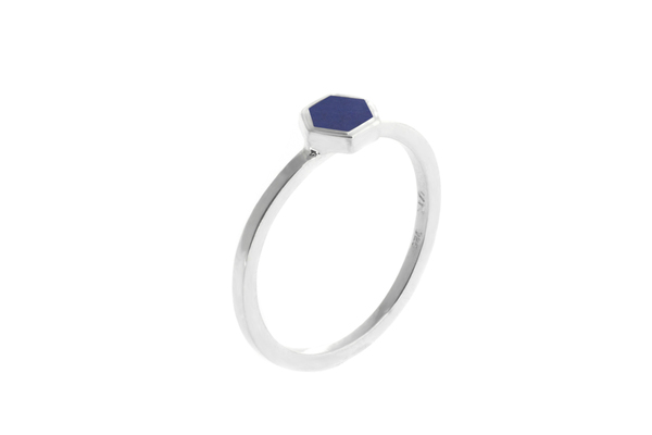 Shahla Karimi Mini Honey Ring with Lapis