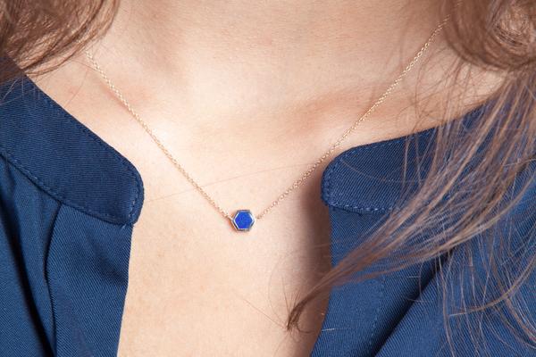 Shahla Karimi Mini Honey Necklace with Lapis