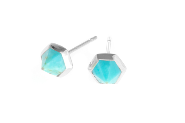 Shahla Karimi Hex Set Earrings with Turquoise