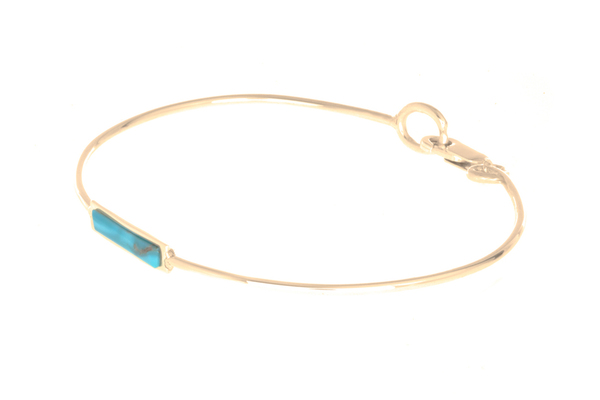 Shahla Karimi Bar Bangle with Turquoise