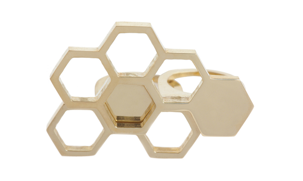 Shahla Karimi Interlocking Honeycomb Ring Set