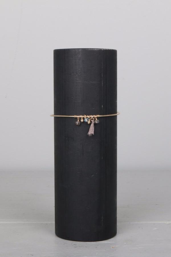 Dafne Barrette Pompom Bracelet