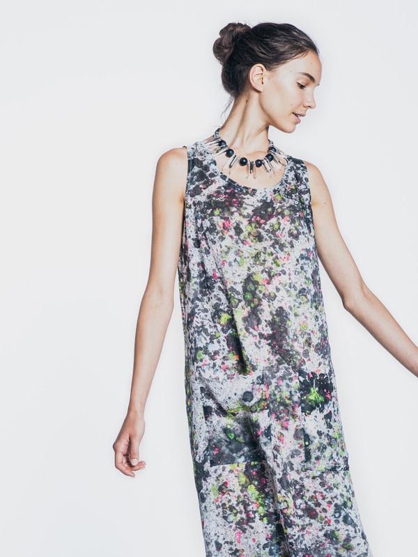 CELESTIAL SILK MAXI DRESS