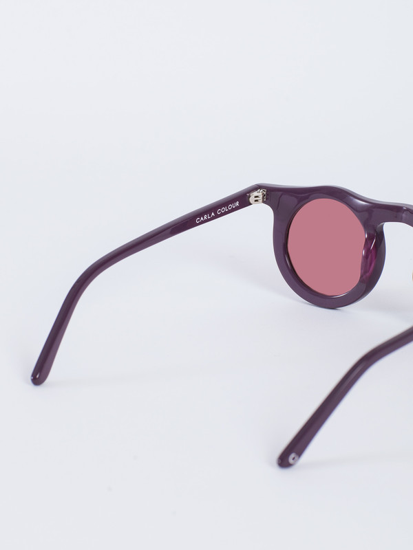 CARLA COLOUR LIND CIRCLE SUNGLASSES