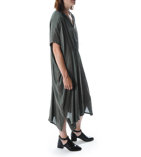Raquel Allegra Satin Twill Kaftan Dress