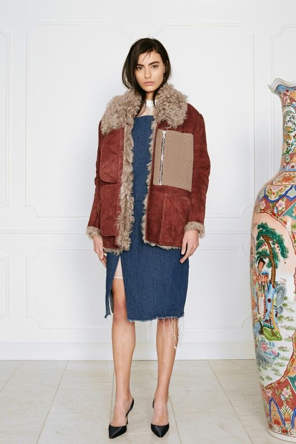 Sandy Liang Ines Shearling Coat