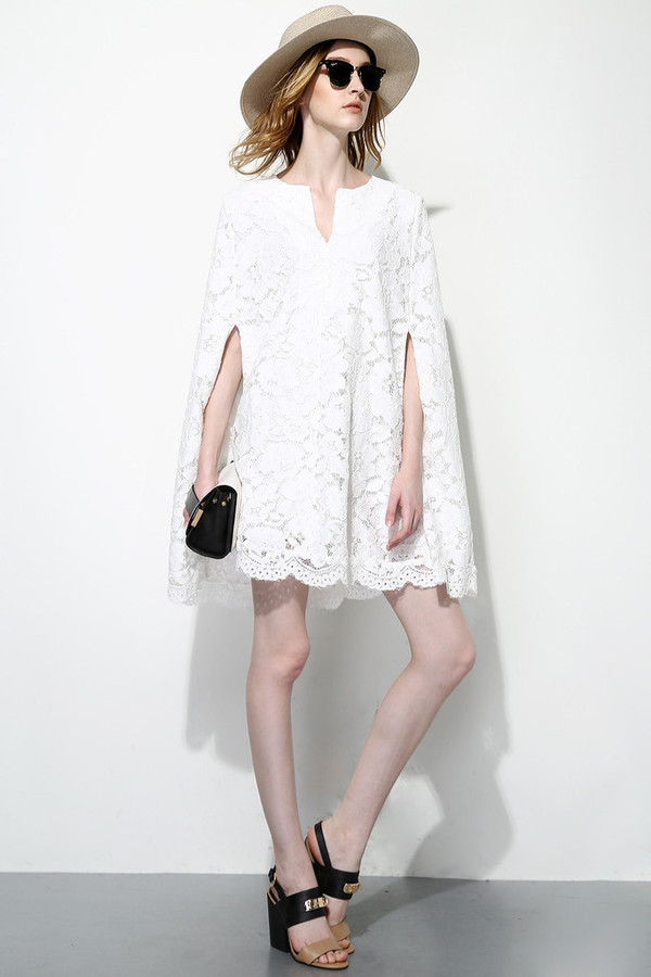 Full Lace Cloak Dress