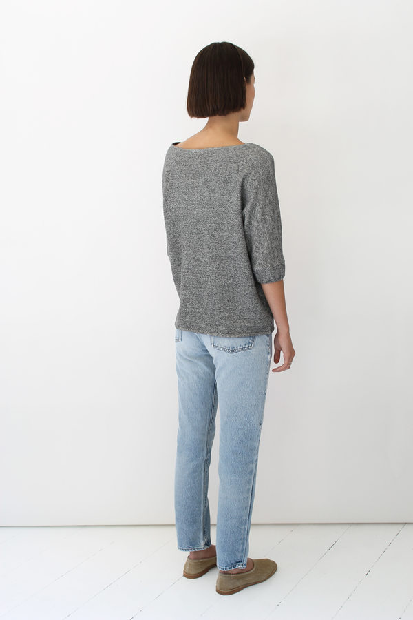 DELPHINE Ernesta top | charcoal
