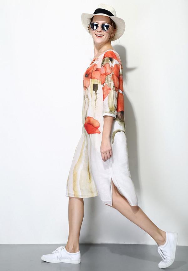 Few Moda Poppy Print Midi Dress