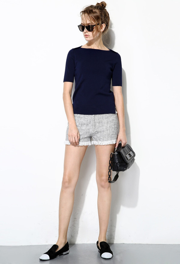 Few Moda Side Button Knit Top