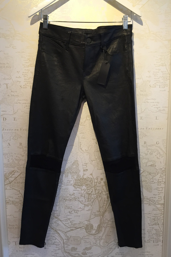 RTA 'Dylan' Distressed Leather Leggings