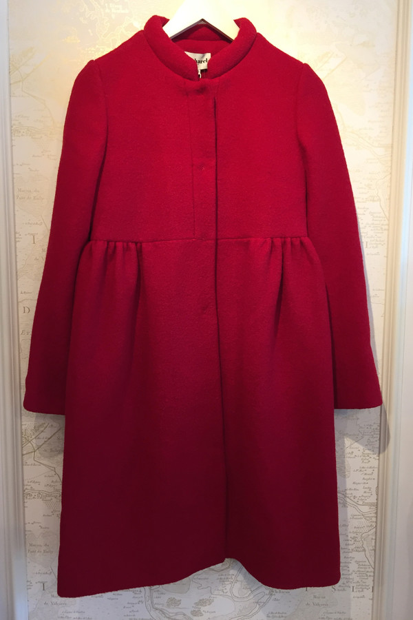 Cacharel Boiled Wool Pintuck Coat