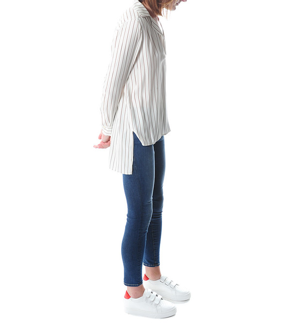 FRAME Denim Le High Popover Blouse | Gardena Stripe
