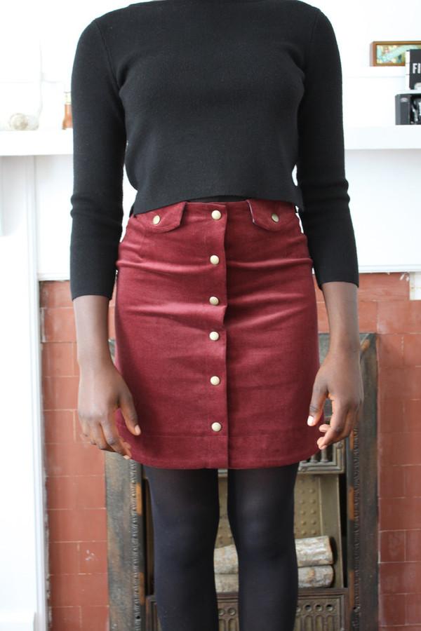 Betina Lou Ivy Skirt | Burgandy