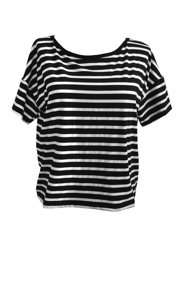 Kain Stripe Tee in Black & White