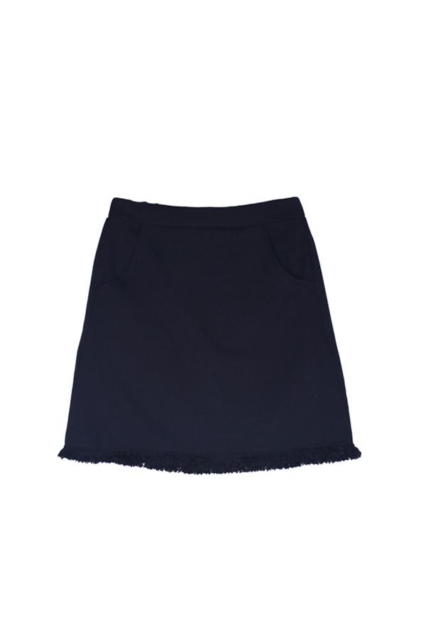 AMONG by ROCKET X LUNCH Black Fringe Skirt