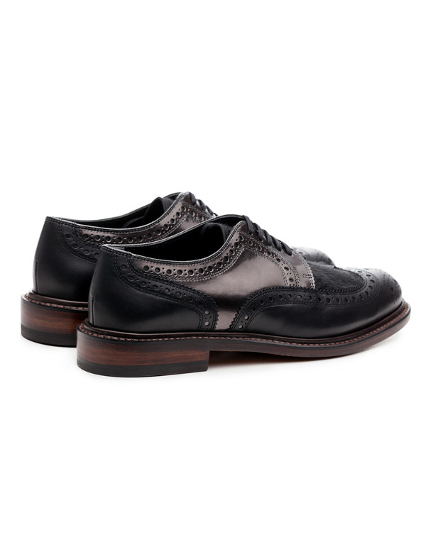 Robert Clergerie Roelp Derbies Black/Gunmetal