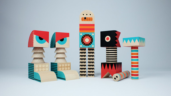 Uncle Goose Stack and Scare! Rodney Monster Block Set