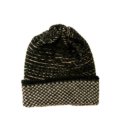 Kordal Seed Stitch Hat - Black/Camel