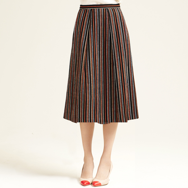 Nikki Chasin Chase Midi Striped Skirt