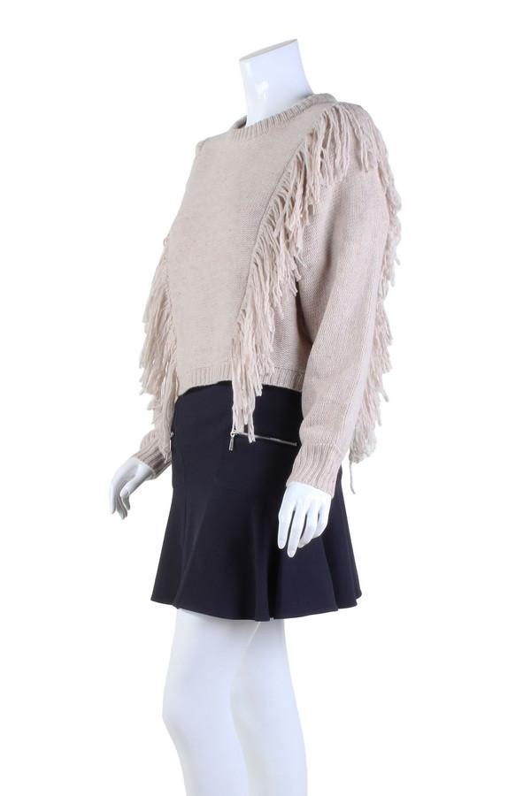 Cosette Agnes Fringe Sweater | Taupe