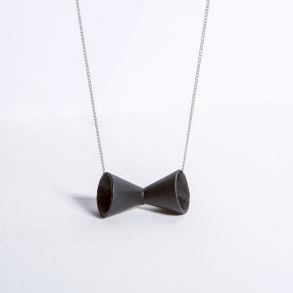 Metalepsis Projects Megaphone Necklace | Matte black