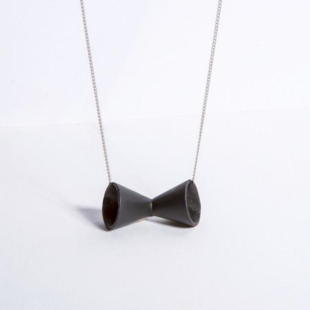 Metalepsis Projects Megaphone Necklace | Matte black