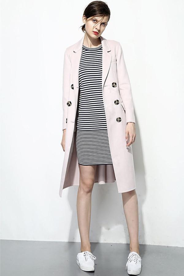 FEW MODA Italian Cashmere Double Breasted Coat