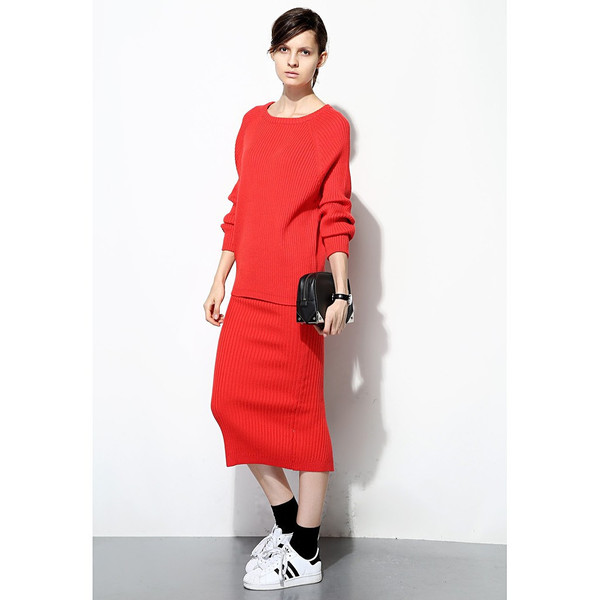 FEW MODA Sporty Knitted Dress Set