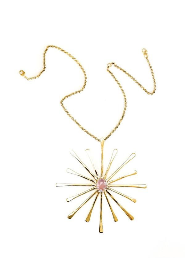 BISJOUX Starburst Pendant Necklace