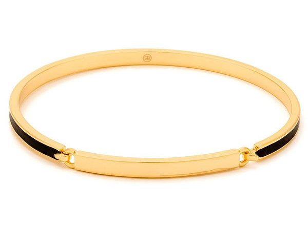 Gorjana Gwen Hinge Bangle with Black Enamel