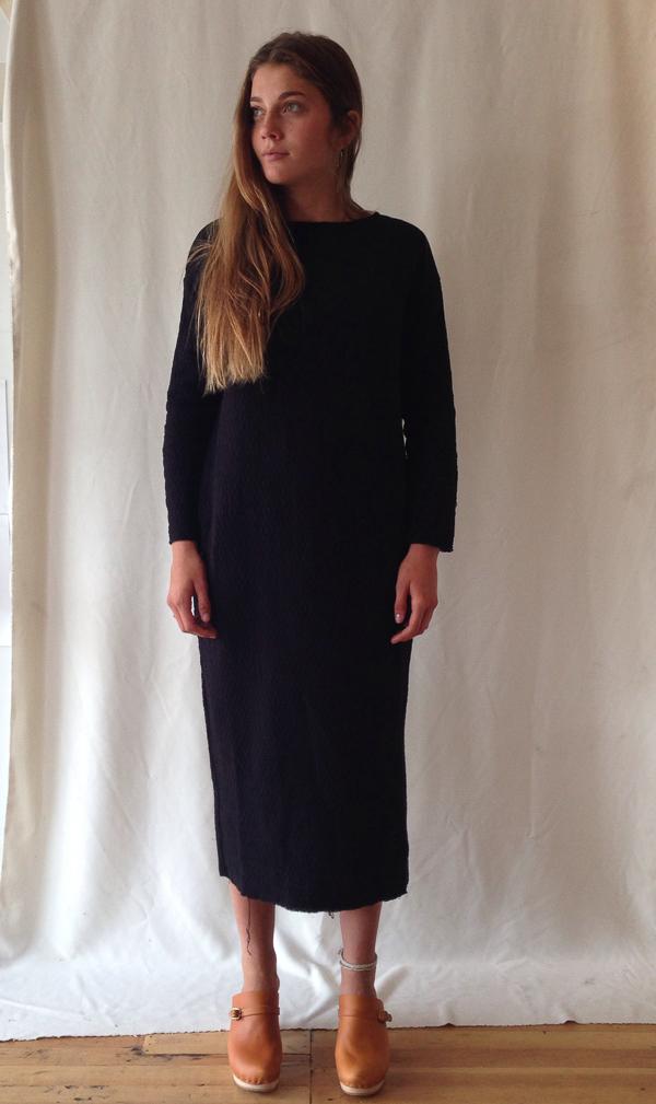 Black Crane quilt dress